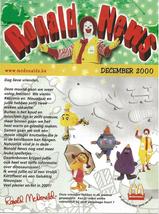 McDonald's  - December 2000 - Ronald News - Belgium - $2.50