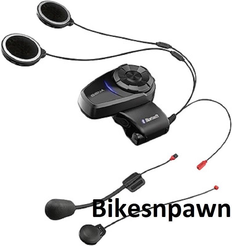 New Sena 10S Motorcycle Intercom Bluetooth 4.1 Communication System Single Unit