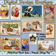 Digital Vintage Halloween Clip Art Images  Instant Download  Downloadabl... - $2.50