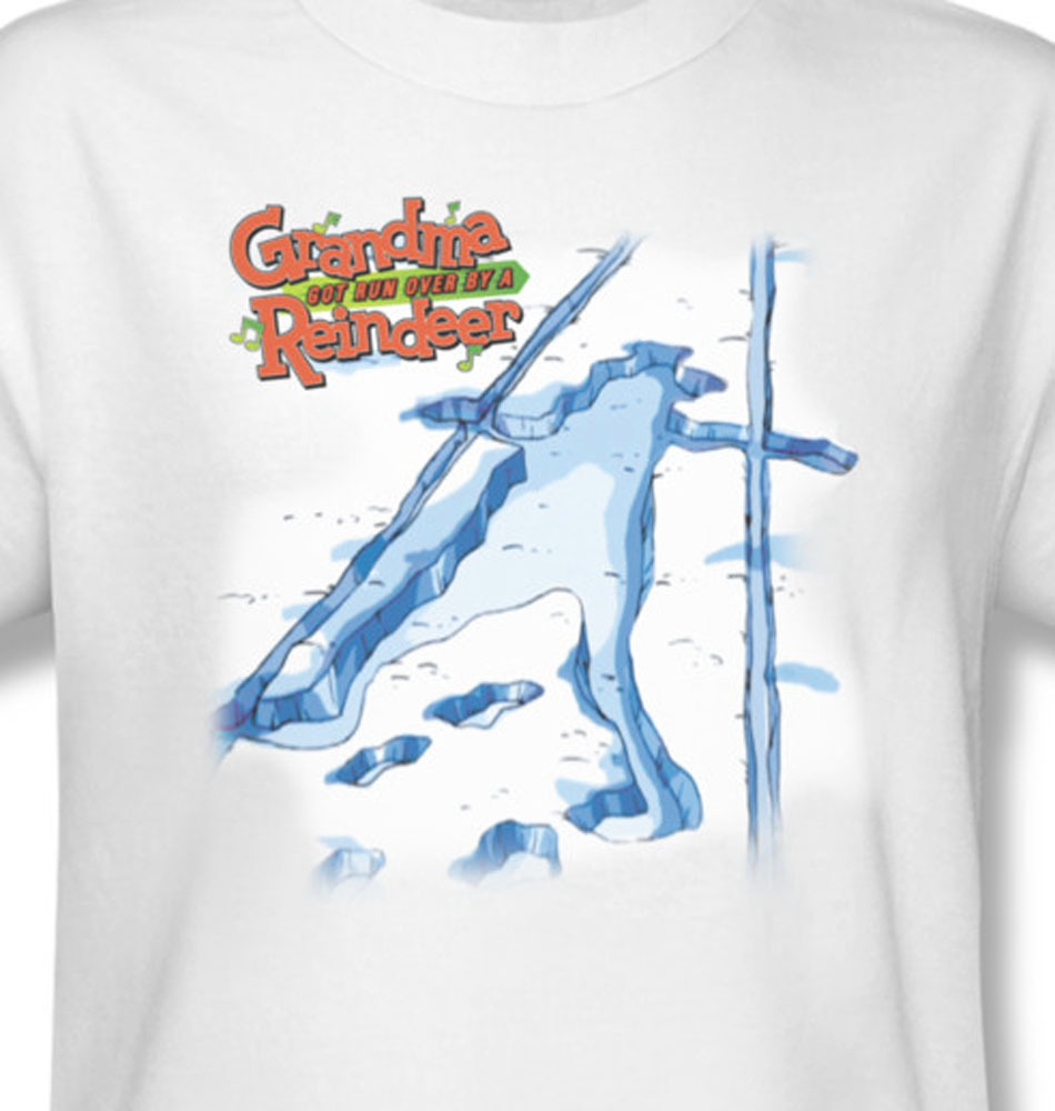 Grandma got run over reindeer christmas special for sale online graphic tee white  gma108 at