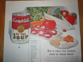 Vintage Campbell's Ox Tail Soup Print Magazine Advertisement 1925 image 2
