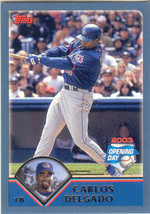 Carlos Delgado ~ 2003 Topps Opening Day #15 ~ Blue Jays - $0.20