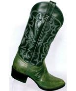 Vintage Tony Lama Mens Gray Lizard Exotic Cowboy Western Boots Size 8.5 EE - $118.81