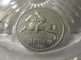 (FC-129) 1991 Lithuania: 1 Centas - $1.50