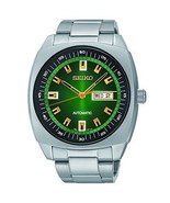 New Seiko SNKM97 Recraft Green Dial Stainless Steel Automatic Men's Watch - $163.33