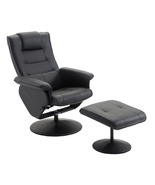 PU Leather Recliner Chair w/Ottoman Leisure Swivel Sofa Executive Furnit... - $149.99