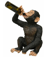 "27"" Boozy Chimp Wine Bottle Holder Novelty Bar Kitchen Decor Collectible - $222.13"