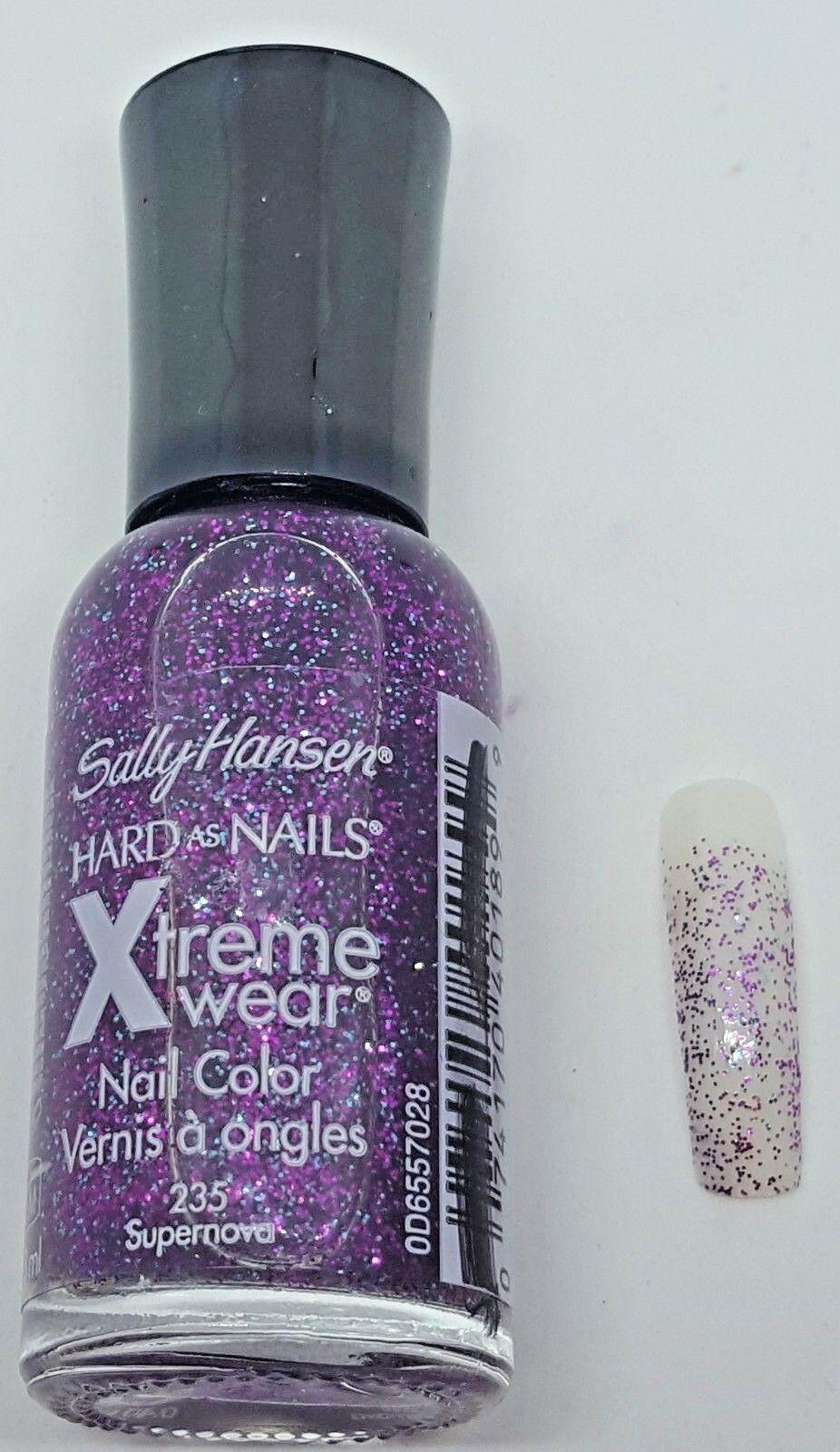 NEW Sally Hansen Hard as Nails Xtreme Wear Nail Polish .45 fl oz 8 Color Choices