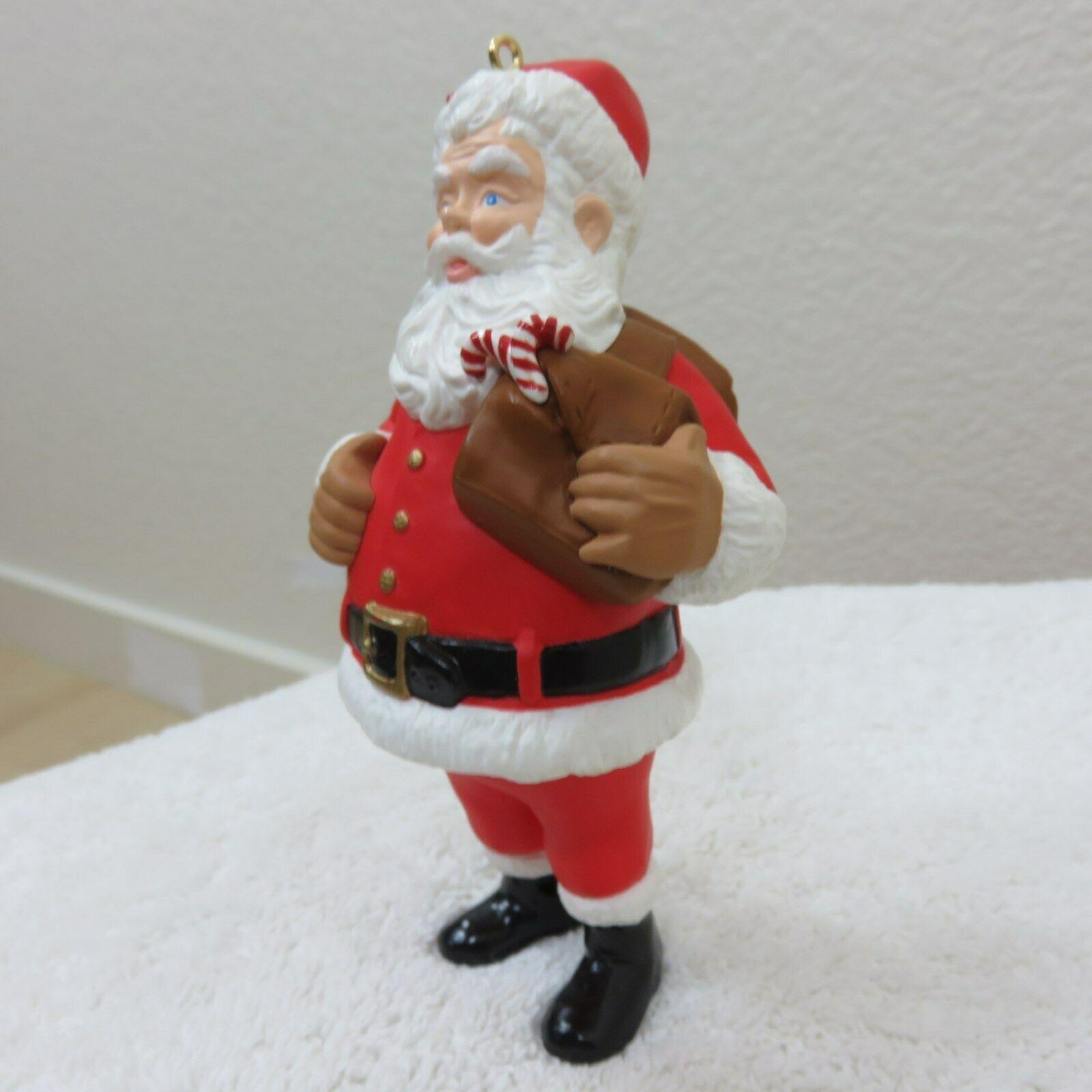 Vintage 1996 Hallmark Keepsake Ornament Santa in Original Box image 5