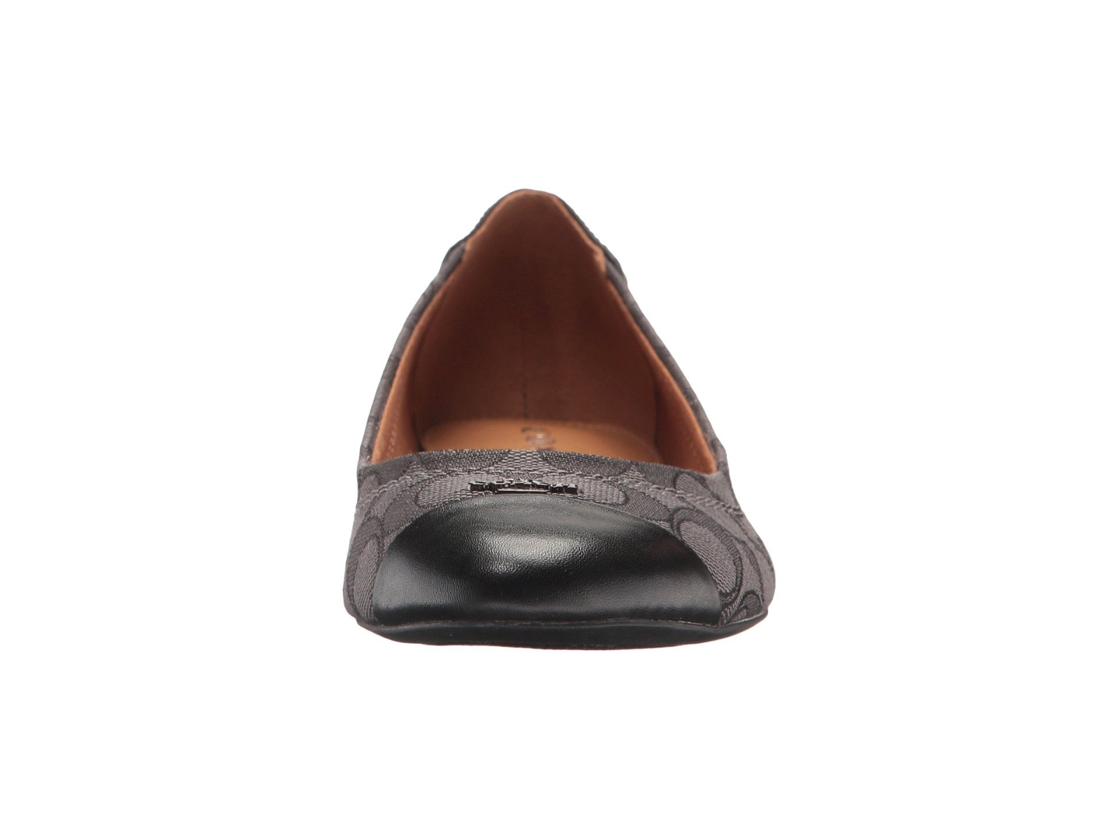 Coach Women's Chelsea Leather Cap Toe Slip on Flats for formal/Casual Wear