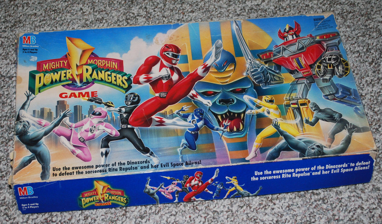 Primary image for Mighty Morphin Power Rangers Board Game Vintage Milton Bradley Parts Board Book
