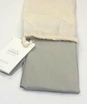 Restoration Hardware Garment-Dyed Sateen Lumbar Sham 100% Cotton Mist NEW $75 - $23.99