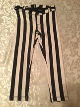 Girls New Size 3/4 H&M pants blue&white striped leggings - $12.59