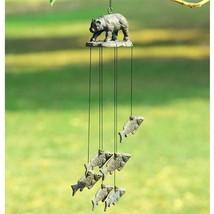 Bear & Fish Wind Chime - Cabin Mountain Décor - Fishing / Hunting -Garde... - $39.60