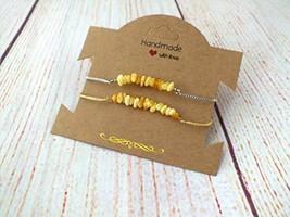 Adjustable Amber Bracelet, bolo bracelet, natural gemstone bracelet, Dai... - $12.00