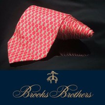 Brooks Brothers Red Gold Chain Chainlink Luxury Striped Tie - $18.39