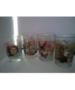 2007 Dreamworks McDonald's Shrek The Third Set of 4 Drinking Glass Tumblers - $41.33