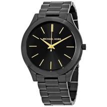Michael Kors MK3221 Slim Runway Black Tone Ion-plated Watch  - $197.00