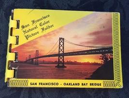 Vintage...San Francisco Natural Color Mini Picture Folder....Spiral...10... - $2.95