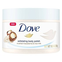 Dove Body Polish Crushed Macadamia and Rice Milk, pack of 1 - $14.26
