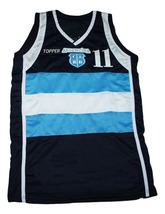 Luis Scola #11 Topper Argentina New Men Basketball Jersey Navy Blue Any Size image 1