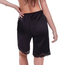 New Women's Premium Illusion Classic Trouser Pants Half Slip With Lace Trim 1037 image 7