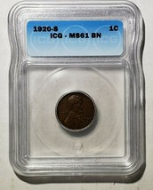 1920S Lincoln Cent MS61 BN Wheat Ears Coin Lot A 138