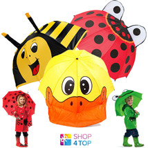 UMBRELLA KIDS CHILDREN ANIMAL BEE FROG DUCK BUG PARASOL RAIN NEW - $14.19