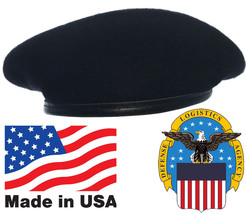 Black Wool Beret US Made Army Issue DSCP Garrison Collection Military Ba... - $9.94