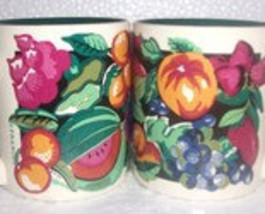 K. I. C. Handpainted Fruit Designed Ceramic (2) Mugs by Franco - $23.00