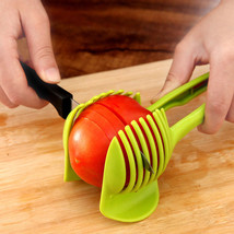 Plastic Potato Slicer Tomato Cutter Tool Shreadders Lemon Cutting Holder... - $4.99