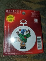 Designs For The Needle Janlynn Skating Snowman Counted Cross Stitch Fram... - $6.88