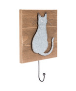 Metal Cat Wood Wall Hook Home Decoration Office Decor - $29.97