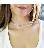 Fstrend Fishbone Choker Necklace Pearl Simple Chain Necklaces Jewelry fo... - $18.71