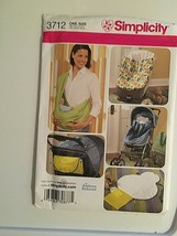 Simplicity Sewing Pattern 3712 Stroller Car Seat Bunting New Package Wear  - $8.66