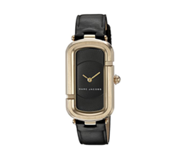 MARC JACOBS MJ1484 Women Watch Gold Rose Black Leather Free Shipping - $149.00