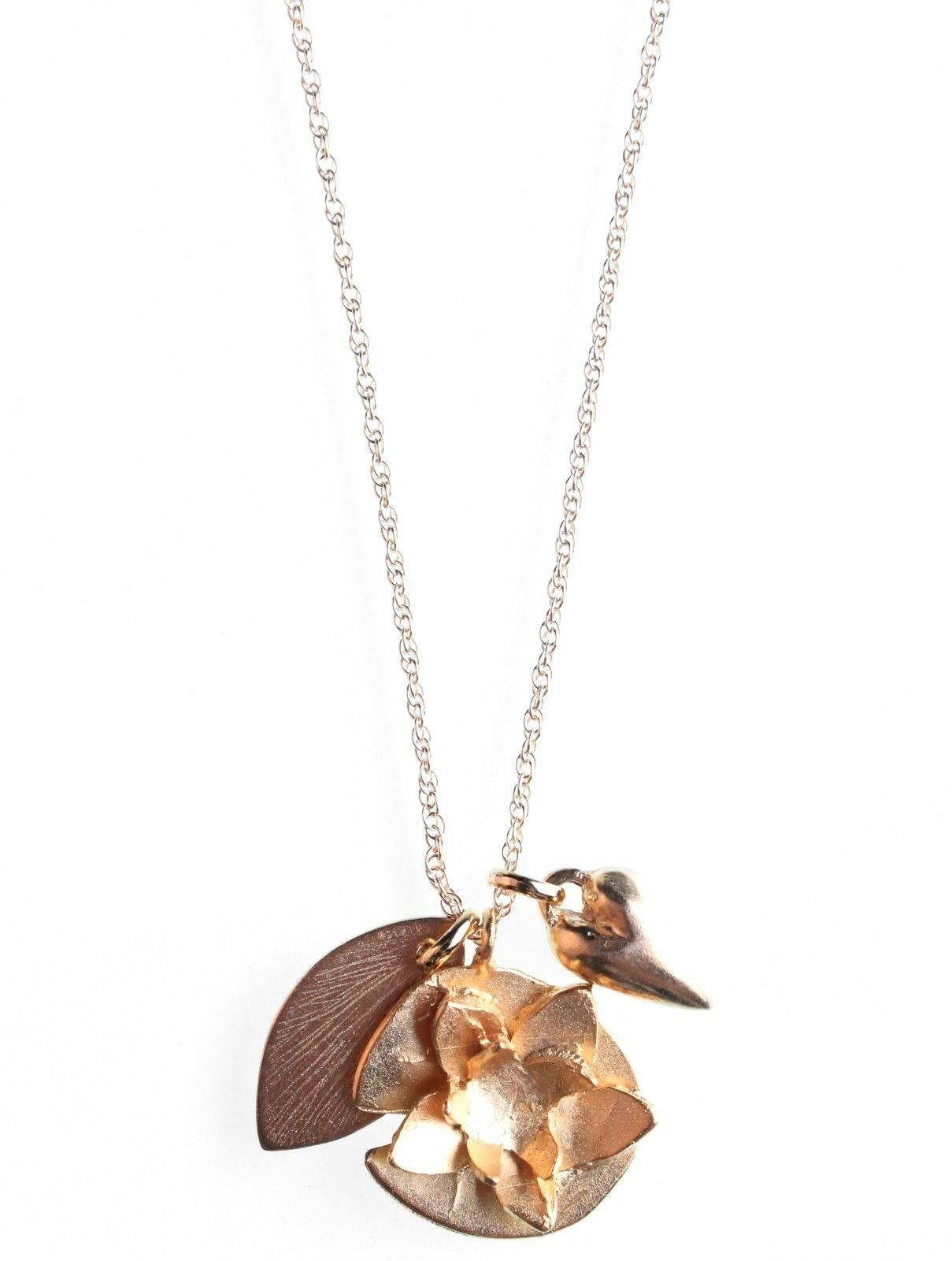 USA Fabriqué Wendy Mink New York Or Collier Pendentif Nwt