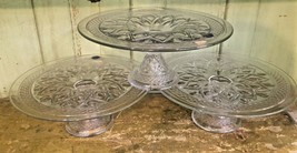 """1 Qty Imperial Glass Cape Cod Crystal 10 1/2"""" Cake Plate Footed Stand Usa - $26.50"""