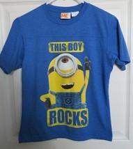 Despicable Me Minion T-Shirt This Boy Rocks Blue Short Sleeve Size Large - $9.89