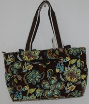 N Gil Product Number PRY2424 Large Diaper Bag Brown Teal Green Paisley Pattern image 2