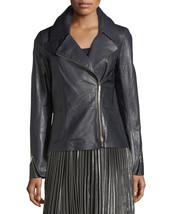 Soft Lambskin Notched Collar Long Sleeve Hot Women Genuine  Leather bike... - $149.00