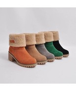 Plus Size Martin Snow Boots Short Bootie Footwear - $52.98+