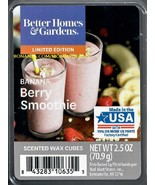 Banana Berry Smoothie Better Homes and Gardens Scented Wax Cubes Tarts M... - $3.75