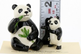Hagen Renaker Miniature Panda Bear and Cub Ceramic Figurine Set