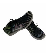 Nike Free RN Flyknit Running Shoes 831069-003 Black White Volt Blue Mens... - $39.59