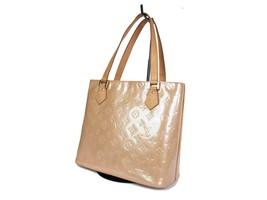 Auth LOUIS VUITTON HOUSTON Beige Patent Leather Tote Bag Shoulder Bag LH... - $339.00