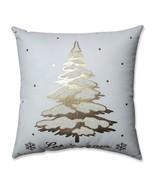 Pillow Perfect Glamour Single Tree Gold-White 17.5-inch Throw Pillow - $15.05