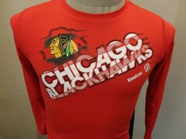Reebok Chicago Blackhawks Polyester Long Sleeve NHL Hockey Shirt Youth M 10-12 - $18.80