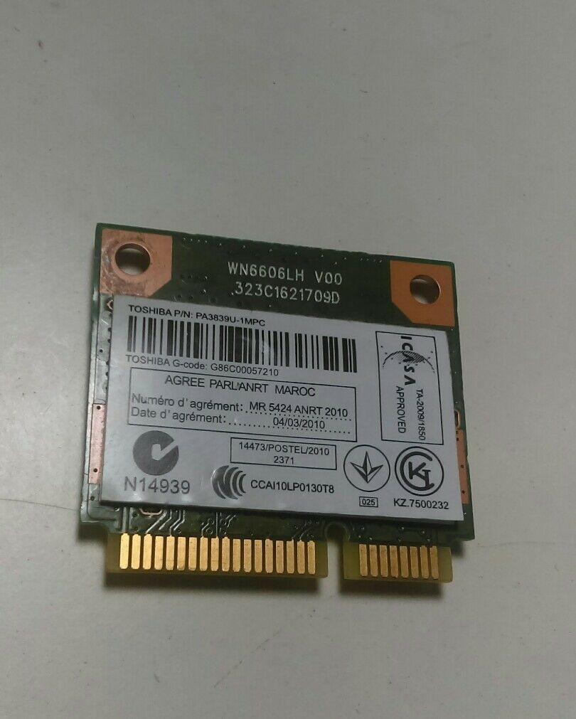 Recertified - Toshiba Satellite C855D-S5201 15.6' Genuine WiFi Wireless Card PA3