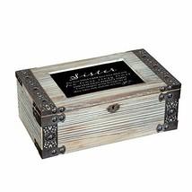 Sister Our Lives Fun Times Metal Lattice Celadon Green Music Box Plays W... - $52.53